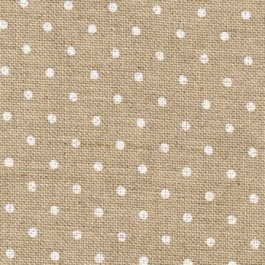 Zweigart Edinburgh Petit Point Naturel pois blancs 5379
