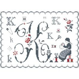 Fleurs de Lettre K
